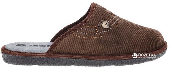 Комнатные тапочки Inblu 61-1X 40 Темно-коричневые от Rozetka