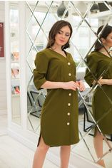 Платье ELFBERG 358 48 Хаки (2000000347110) от Rozetka