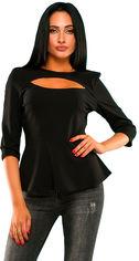 Блузка ELFBERG 320 42-44 Черная (2000000308722) от Rozetka