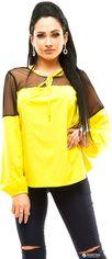 Блузка ELFBERG 273 42 Желтая (2000000296845) от Rozetka
