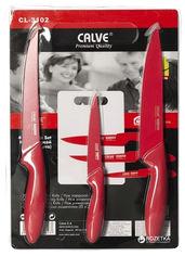 Акция на Набор ножей Calve из 4 предметов Красный (CL-3102 - К) от Rozetka