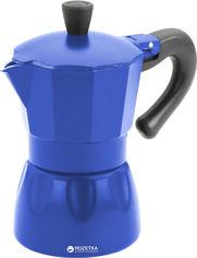 Акция на Гейзерная кофеварка эспрессо Calve 120 мл Синяя (СL-1520-С) от Rozetka