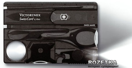 Мультитул Victorinox SwissCard Lite Onyx (0.7333.T3) от Rozetka