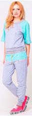 Спортивный костюм MJL Frederika XS Gray/Mint (2000000002248_MJL) от Rozetka