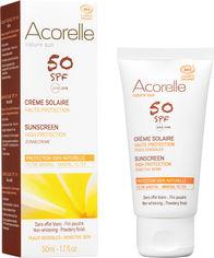 Акция на Солнцезащитный крем для лица Acorelle SPF50 органический 50 мл (3700343046112) от Rozetka