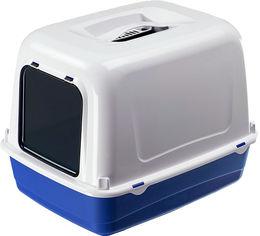 Акция на Закрытый туалет Ferplast Clear Cat 20 55x40x38 см Синий (72053199 - Blue) от Rozetka