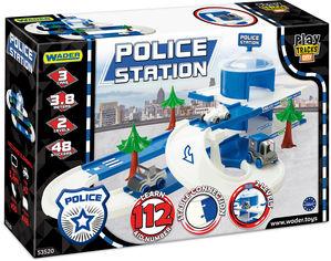 Автомобильный трек Wader Play Tracks City Набор полиция (53520) (5900694535206) от Rozetka