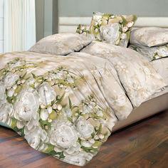 Комплект постельного белья Novita Premium 210х220 см (6321-1 Бутоны ) от Rozetka