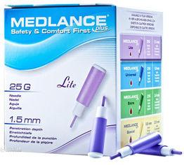Акция на Ланцет MEDLANCE PLUS Lite 200 Violet (5907506237105) от Rozetka