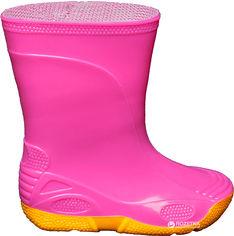 Акция на Резиновые сапоги OLDCOM Vivid 21/22 Розовые на желтой подошве (4841347008658) от Rozetka