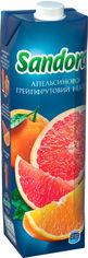 Акция на Упаковка нектара Sandora Апельсиново-грейпфпутовый 0.95 л х 10 шт (4823063112949) от Rozetka