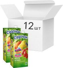 Акция на Упаковка сока Садочок Мультивитаминный с мякотью 0.95 л х 12 шт (4823063107273) от Rozetka