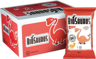 Упаковка снеков кукурузных Mclloyd's Динозаврики с кетчупом 50 г х 12 шт (8588004638327/8588004638358) от Rozetka