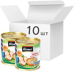 Упаковка мясного пюре Hame Индейка с 7 месяцев 100 г х 10 шт (8595139726133) от Rozetka