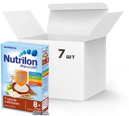 Упаковка молочной каши Nutrilon 7 злаков с яблоком 225 г х 7 шт (5900852025303_5900852025358) от Rozetka