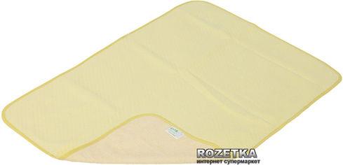 Акция на Непромокаемая двусторонняя детская пеленка Эко Пупс Classic трикотаж 65х90 см Желтая (ПЕЛ6590ХБТРж) от Rozetka