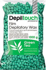 Воск для депиляции пленочный Depiltouch Professional Зеленый чай в гранулах 1000 г (4630010606105) от Rozetka