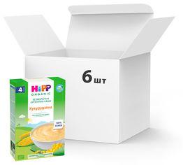 Упаковка органических безмолочных каш HiPP Кукурузная 6 пачек по 200 г (9062300439912) от Rozetka