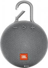 Акция на Акустическая система JBL Clip 3 Grey (JBLCLIP3GRY) от Rozetka