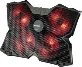 Охлаждающая подставка для ноутбука Promate AirBase-3 Black от Rozetka