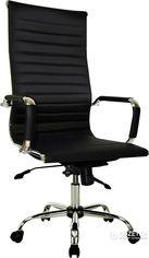Акция на Кресло Примтекс Плюс Elegance Chrome MF D-5 Black от Rozetka