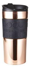 Акция на Термокружка Bodum Travel Mug 350 мл Rose Gold-Black (11068-18S) от Rozetka