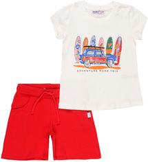 Акция на Костюм (футболка + шорты) Wanex WNX TK 2 - 21455 92 см Белый с красным (ROZ6205089040) от Rozetka