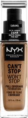 Жидкая тональная основа NYX Professional Makeup Can`t Stop Won`t Stop 24-Hour Foundation 15 Caramel 30 мл (800897157326) от Rozetka