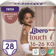 Акция на Подгузники-трусики Libero Либеро Touch 7 16-26 кг 28 шт одноразовые (7322541092386) от Rozetka