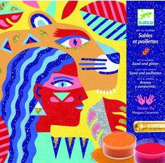 Акция на Художественный комплект Djeco рисование цветным песком Тотемные животные (DJ08633) (3070900086333) от Rozetka