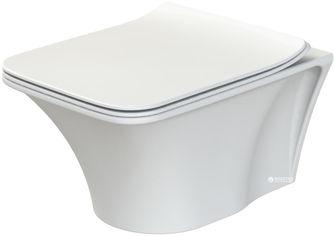 Унитаз подвесной CERASTYLE Ibiza 018900 + сиденье Slim Soft Close 9SC1211S02 от Rozetka