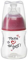 Бутылочка для кормления Bibi Счастье Папа Natural 120 мл (114652Р) (7610472859262) от Rozetka