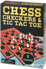 Акция на Набор настольных игр Spin Master Games Шахматы шашки крестики-нолики (SM98377/6033146) от Rozetka