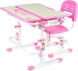 Акция на Комплект FunDesk Парта и стул-трансформеры Lavoro Pink + Настольная светодиодная лампа от Rozetka