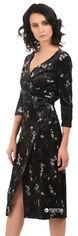 Платье NikTan 856 42 Черное/Цветы (2000000084640) от Rozetka