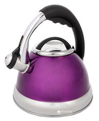 Акция на Чайник Calve со свистком 2.6 л Фиолетовый (СL-1463-Ф) от Rozetka