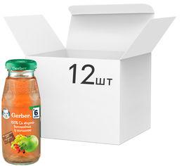 Упаковка Сока Gerber Яблоко / виноград / шиповник с 6 месяцев 175 мл х 12 шт (7613033520778) от Rozetka