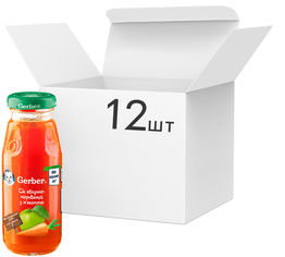 Упаковка Сока Gerber Яблоко / морковь с 6 месяцев 175 мл х 12 шт (5900452006061) от Rozetka