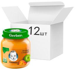Акция на Упаковка фруктового пюре Gerber Яблоко и персик с 6 месяцев 130 г х 12 шт (7613033514906) от Rozetka