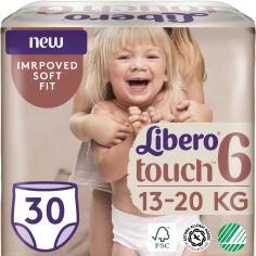 Подгузники-трусики Libero Либеро Touch 6 13-20 кг 30 шт одноразовые (7322541092201) от Rozetka