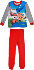 Пижама (футболка с длинными рукавами + штаны) Disney Super Wing DHQ2181 98 см Grey (3609081433768) от Rozetka