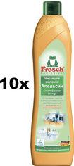 Акция на Упаковка чистящего молочка Frosch Апельсин 500 мл х 10 шт (4009175048073) от Rozetka