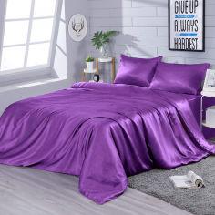 Акция на Комплект постельного белья Zastelli Искусственный шелк Dark Lilac 145x210x2 см (2500000075599) от Rozetka