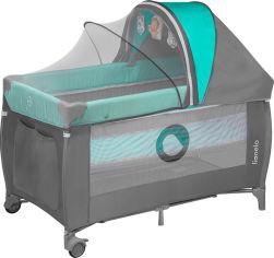 Кроватка-манеж Lionelo Sven Plus Turquoise-grey (LO.SV01) (5902581650603) от Rozetka