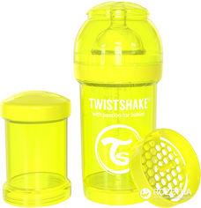 Акция на Антиколиковая бутылочка Twistshake 180 мл Желтая (7350083120397) от Rozetka