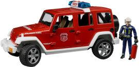 Акция на Пожарный джип Bruder Wrangler Unlimited Rubicon с фигуркой пожарного (02528) от Rozetka