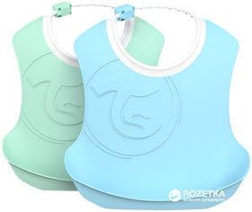 Набор нагрудников Twistshake мятный и светло-голубой 4+ мес (7350083122209) от Rozetka
