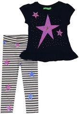 Акция на Костюм (футболка + лосины) Cichlid 2600-009 86-92 см Темно-синий с серым (ROZ6205088248) от Rozetka
