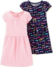 Платье Carters 231G144 2 шт 18M Розовое с синим (192135609217) от Rozetka
