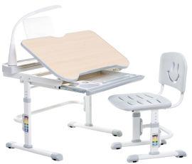 Акция на Комплект FunDeskПарта + стул трансформеры с лампой и подставкой для книг Bellissima grey от Rozetka